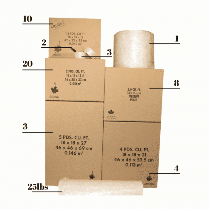 Bedroom Condo Packing Kit